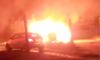 В Глухове ночью сгорела машина